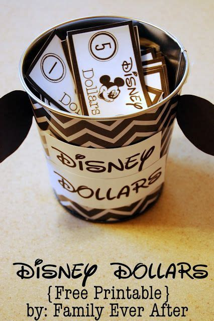 You Re Going To Disneyland Printable Family Ever After Disney Dollars For Kids Free