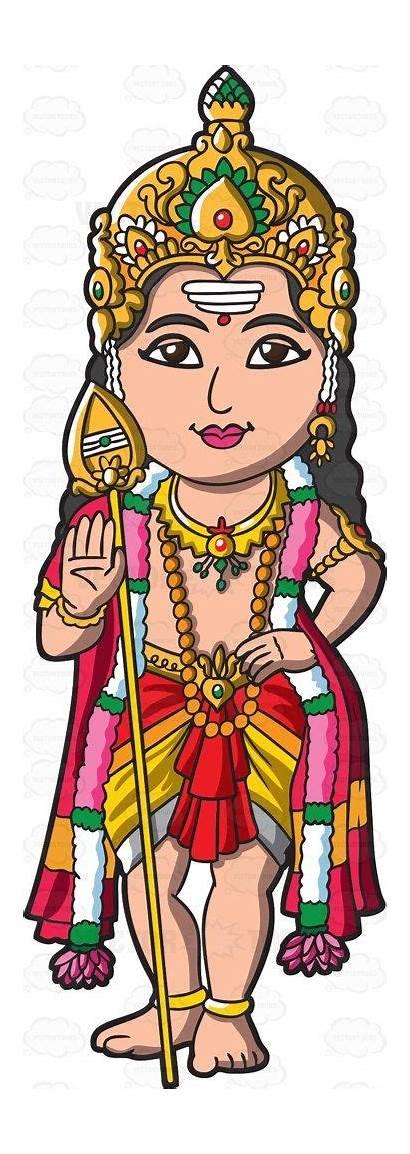 Murugan Hindu Clipart God Gods Cartoon Indian