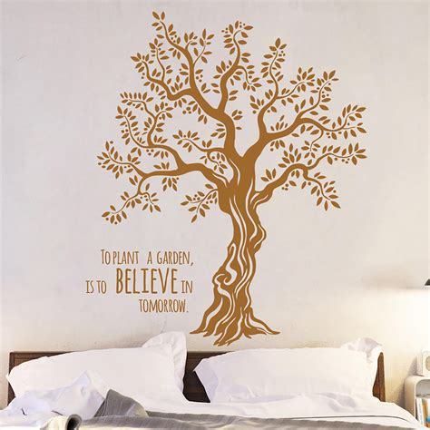 Wall Decal Wall Sticker Tree Olive Tree With Saying M1567