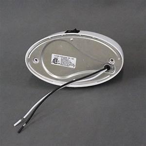 Optronics White Oval Rv Porch Light W   Clear Lens  U0026 Switch
