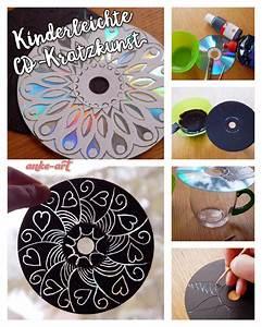 Mit Cds Basteln : kinderleichte cd kratzkunst upcycling cd 39 s acrylfarbe zahnstocher cd upcycling ~ Frokenaadalensverden.com Haus und Dekorationen