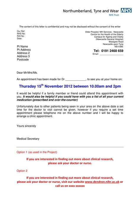 appointment letter format examples  word examples