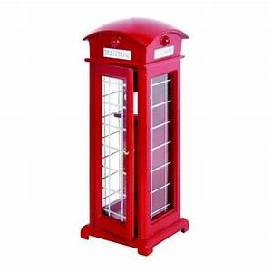 Traditional Red British Telephone Box 17cm X 6cm Dolls