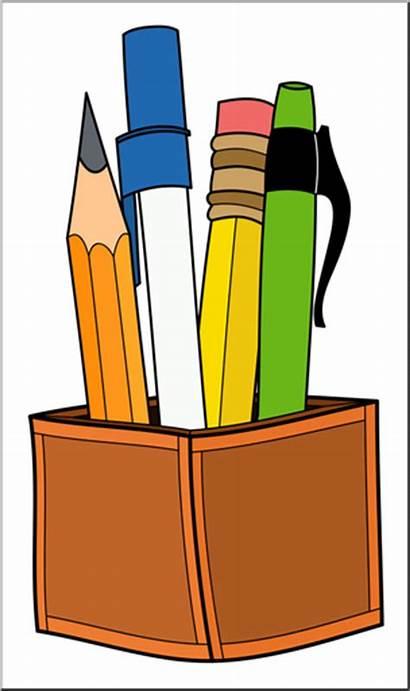 Pen Pencil Clipart Clip Holder Abcteach Banner
