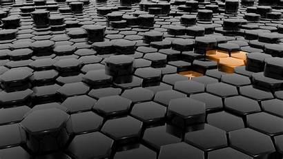 Orange Hexagon Dark Wallpapers Hexagons Oranges Anime