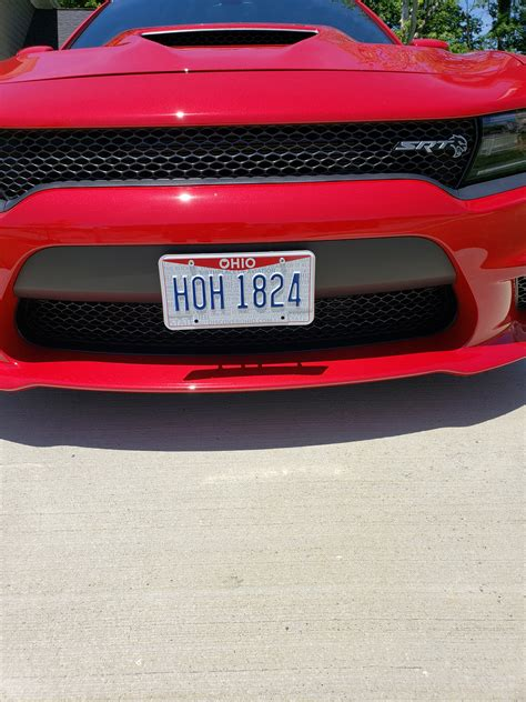 removable front license plate holder page  srt hellcat forum