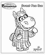 Coloring Sprout Sue Pajanimals Pbs Sweet Pea Colorear Birthday Doce Pintar Imprimir Dibujos Pajama Designlooter Tudodesenhos Pintarcolorear Busytown Mysteries Colorir sketch template