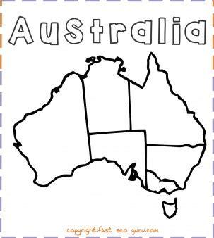 printable australia map coloring page  printable