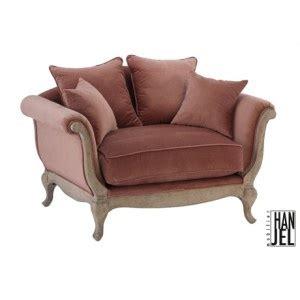 canapé hanjel pompadour mini canapé baroque en velours marron glacé pompadour