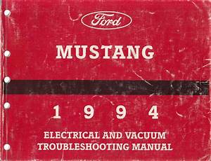1994 3 8l Mustang 4 6l T Cougar Engine Diagnosis Manual Original
