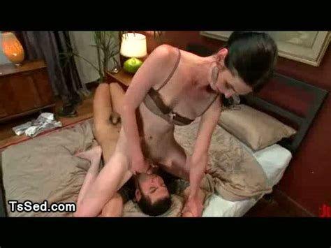 Tied Up Guy Fucked In Missionary Position By Tranny AShemaletube Com