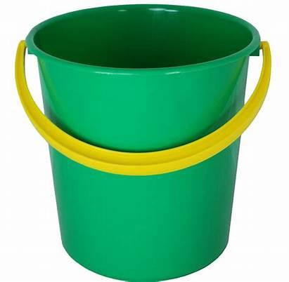 Bucket Plastic Pail Clipart Transparent Orange Yellow