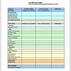 Monthly Budget Template  10+ Download Free Documents In Pdf, Excel, Word