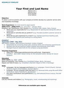 download canada cv template for free formtemplate With canadian resume template free