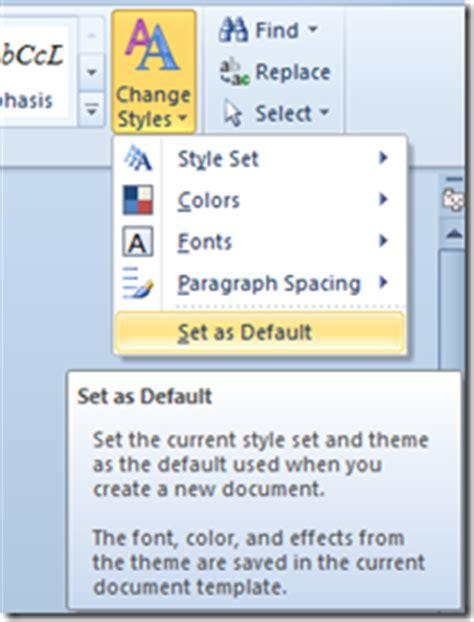 permanently change default font  word