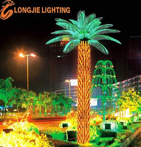 decorative palm trees with lights led light holiday outdoor decorative oil palm tree buy
