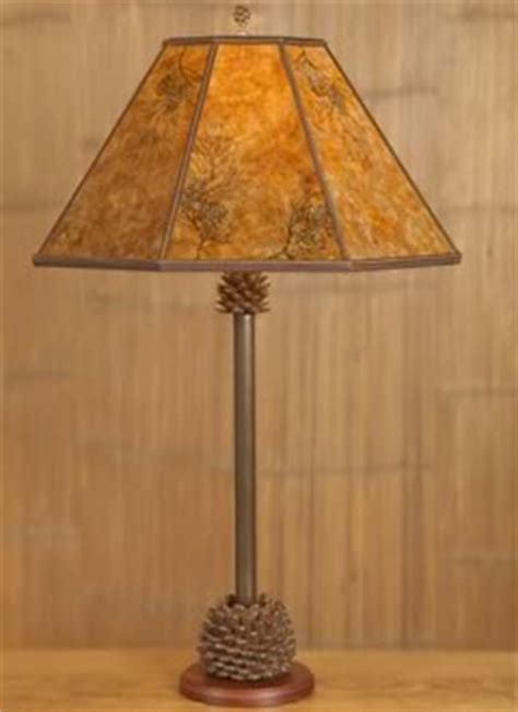 rustic lighting pine cone table l reading l mica