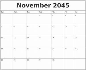 December 2045 Free Blank Calendar