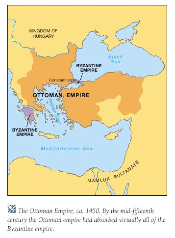 Ottoman Byzantine by History Of The Middle Ages C 300 1450 Mind42
