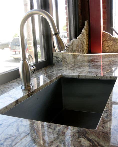 granite typhoon bordeaux  undermount sink  showroom