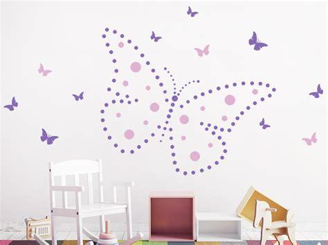 Wandtattoo Kinderzimmer Grün by Wandtattoo Punkte Schmetterling Wandtattoos De