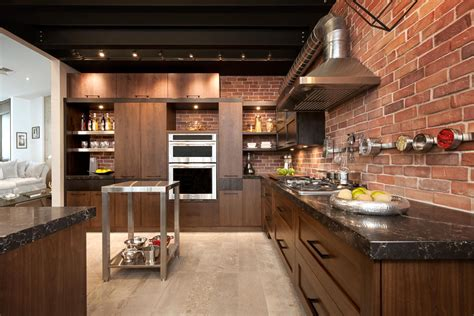 loft cuisine bois noyer frêne quartz