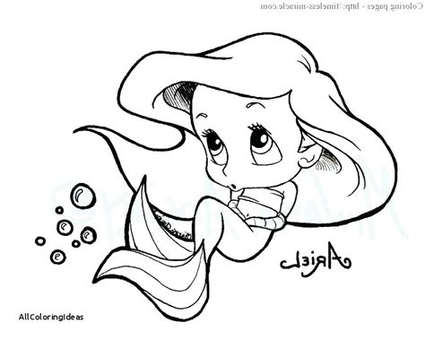 Baby Ariel Coloring Pages At Getcolorings.com