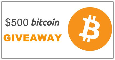 You must be 18 or over to enter the draw. Win $500 Worth of Bitcoin - Ends: 11/07/2020 - Giveaway Booster