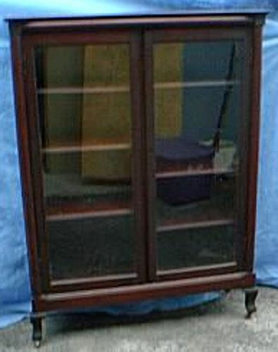 Glass Door Bookcases Sale by Mahogany Bookcase Glass Doors Original Finish B1571 For