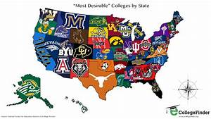The Most Desirable College In Each State [MAP] - Business ...