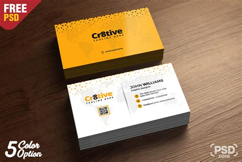 clean business card design  psd uxfreecom