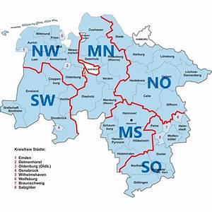 Nord West Ost Süd : weitere regionen in nds region nord west ~ Markanthonyermac.com Haus und Dekorationen