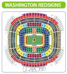 Redskins Seating Chart View Washington Redskins Seating Chart Fedex Field