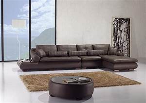 espresso full leather sectional sofa w matching coffee table With matching sofa and coffee tables