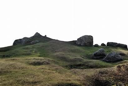 Hill Clipart Landscape Grassy Rocky Transparent Mountain