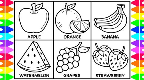 draw fruit  kids fruit drawings  kids