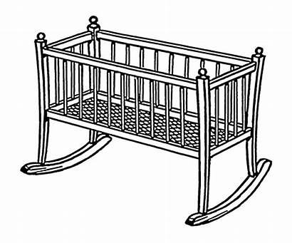 Cradle Cot Drawing Line Bed Psf Card