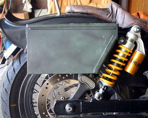 saddle ammo bags diy saddlebags bag panniers harley bike adventure installed position below dual sport davidson bikes