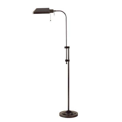 bronze pharmacy floor l cal lighting pharmacy floor l in dark bronze l