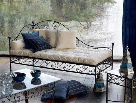 canapé lit en fer forgé banquette fer forge