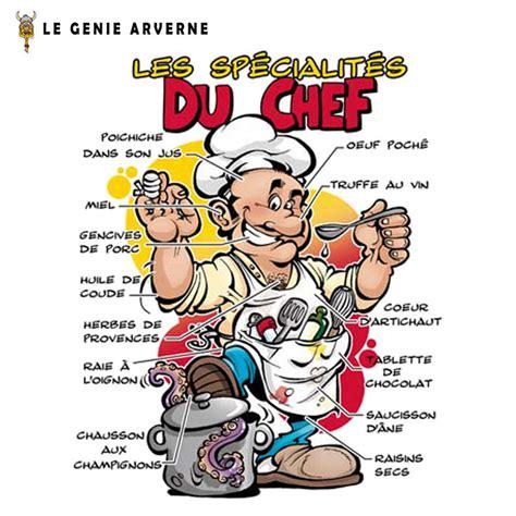 recette de cuisine humoristique tablier spécialités du chef