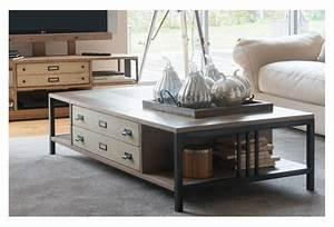 Table Basse Industrielle Avec Tiroir : table basse industrielle avec tiroir le bois chez vous ~ Teatrodelosmanantiales.com Idées de Décoration