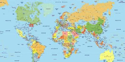 Toronto uz pasaules kartes - Toronto pasaules kartē (Kanāda)