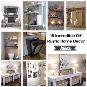 16, incredible, diy, rustic, home, decor, ideas