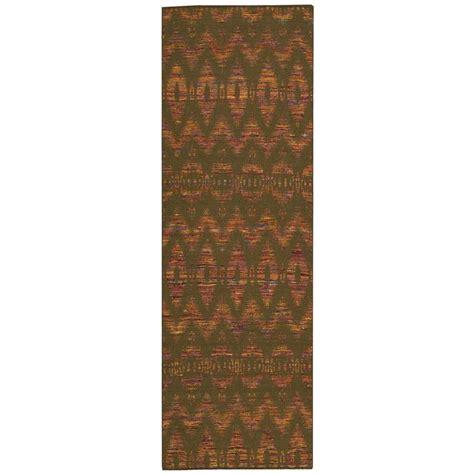 overstock runner rugs nourison overstock spectrum chocolate 2 ft 6 in x