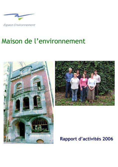maison de l environnement rapport 2006 espace environnement
