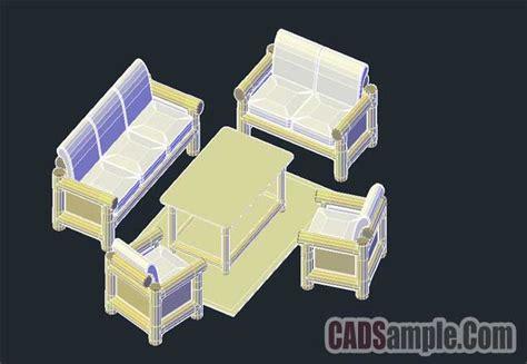 3d Sofa Set Dwg Drawing » Cadsample.com