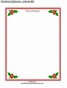 free printable stationery free printable unlined With christmas letter stationery printable
