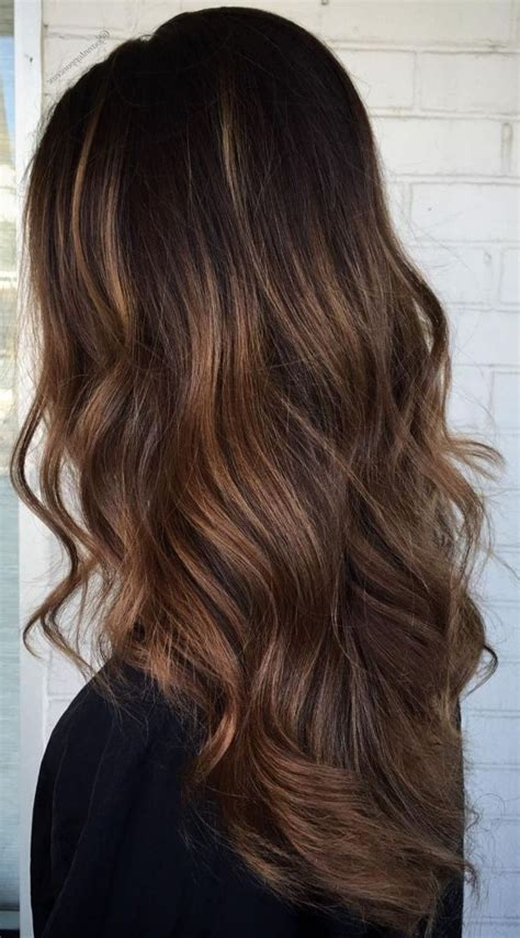 dark brown  light brown ombre long hair color ideas hair colour style