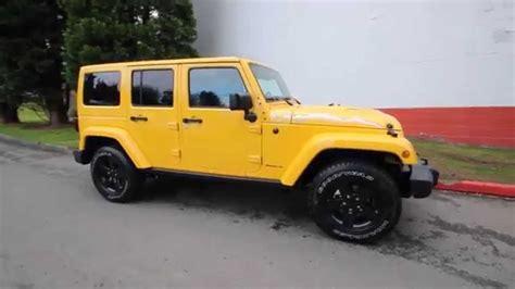 jeep wrangler unlimited sahara baja yellow